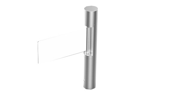 cylinder acrylic swing barrier for commercial building